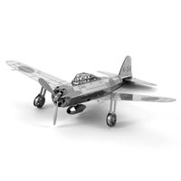 Wholesale Zero Fighter Freeship - Fighter Rock 3D Puzzles Metal Model Japan Zero Fighter Airplane Apache Helicopter Water Plane DIY Metal Jigsaw Puzzles