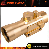 Wholesale Sight Scope Mount Rail - FIRE WOLF Golf 3x42 11mm 20mm Rail Mounts Tactical Riflescope Sight Scope Hunting Holographic Green Red Dot Optical Telescopic
