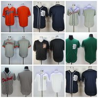 Wholesale Custom Blank Jerseys - Detroit Tigers Jerseys Blank Jersey Custom Any Name and Number Flexbase White Navy Black Grey Stitched