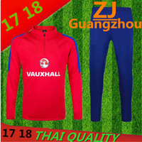 Wholesale Mens Jackets Waterproof Windproof - 2017 England red Top Thailand tracksuit 16 17 ENGLAND long sleeve Training suit pants training clothes sports wear jacket mens Sweater