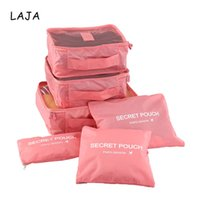 Wholesale Thermal Bedding Sets - 6pcs set S M L Storage bag+S M L Storage pouch Travel Clothing Bags Waterproof Socks Bra Underwear Storage Organizer Suitcase Laundry Pouch