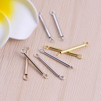 Wholesale Tube Connector Jewelry - Wholesale DIY Jewelry Connectors For Necklaces DIY Jewelry Making Tube Charms Connectors for Handmade Findings Accessories