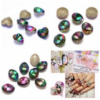 Wholesale Rhinestones Pointback - Nail Rhinestones 5pcs New Rainbow Color Glass Rhinestone For Nail Art Decorations Pointback Nail Stickers DIY Craft Art Stones