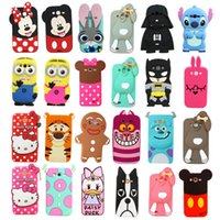 Wholesale Galaxy S3 Phone Cartoon Covers - For Samsung Galaxy S3 Mini S4 Mini S5 Case Cute Hot 3D Cartoon Minnie Mouse Soft Silicon Cover For Samsung Galaxy S6 edge S7 edge Phone Case