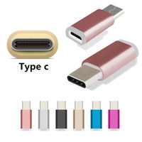 Wholesale colorful adaptor online - Colorful Aluminum Colorful USB Type C Adapter Fast Charger Charging Data Sync USB C Adaptor