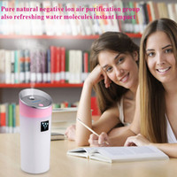 Wholesale Powered Humidifier - In Stock New Cool Design USB 5V power supply ultrasonic ionizer water diffuser with Mist Humidifier Free Shipping