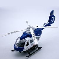 Wholesale Model Toy Police Lights - 21CM Length Diecast Police Helicopter, Replica Airplane Scale Model, Kids Boys Toys Gift With Pull Back Function Sound Light