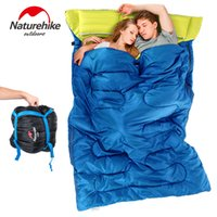 Wholesale Double Long Pillows - Wholesale- NH couple double sleeping bag with pillows outdoor camping indoor lunch break portable Adult lover warm for four seasons
