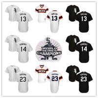 Wholesale Paul Konerko Jersey Xxl - Men's Chicago White Sox 2005 World Series Jersey #13 Ozzie Guillen #14 Paul Konerko #23 Robin Ventura Size S-6XL