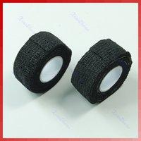 Wholesale Nail Flex Wrap - Wholesale- 10 Rolls Flex Wrap Finger Bandage Tape File Nail Art Manicure Protective black