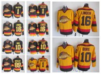 Wholesale vintage nhl - 1 Kirk Mclean 10 Pavel Bure 16 Trevor Linden 89 Alexander Mogilny Black White Vintage Vancouver Heritage Canucks Nhl Ice Hockey Jerseys