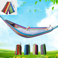 Outdoor Single Striped Camping Hammock Thicker Canvas Indoor Single Pesorn Leisure Hammock