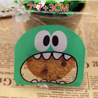 Wholesale wholesale cookie bags supply - Colorful Self Adhesive Bag Retail Package Bags For Cookies Cake bread Dessert Candy Gift Packing Wedding Party Supplies