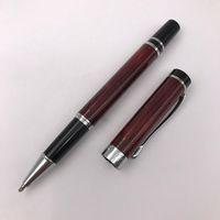 produktschreiben großhandel-Silberne Klipp-Tintenroller-Kugel-Rot / Schwarzes MB-Stift-Schwarz-Tinten-Schreibens-Briefpapier Schulbedarf-Büro-Produkt 1pc / lot