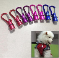Wholesale Dog Cool Collars - Aluminum Waterproof Safety Collar Tag Pendant Cool Flashing LED Collar Tag for Dog Cat Pet