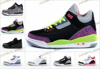 Wholesale Tang Kids - retro 3 kids basketball shoes 2017 for boy girl black white cement GS infrared high quality 3 III Tang Wu Sneakers US size 11C-3Y