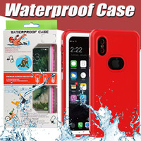 Wholesale Dirtproof Water Proof - Waterproof Full Cover Protective Case Swimming Diving Water Proof Dirtproof Shockproof For iPhone X 8 7 Plus 6 6S Samsung S8 With Retail Box