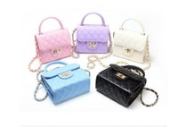 Wholesale Fashion Hangbags - 2017 children bags for girls fashion chain bags kids tote girls purse handbag women mini Messenger bag shoulder bag