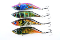 Wholesale 8cm Vib Lure - 2017 4PCS Colorful painting series of bionic fishing baits 8cm 12g VIB plastic fishing lures hard bait fishing tools 1606103