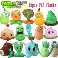 Wholesale Zombie Soft Toys - Wholesale-1pcs Plants Vs Zombies 2 Stuffed Plush Toys Doll PVZ 15-20cm Plants Soft Plush Toy for Kids Party Toys 15 Styles to Optional