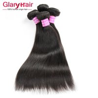 Wholesale grade 8a human hairs resale online - Top Quality a Grade Brazilian Straight Human Hair Bundles Unprocessed Cheap Remy Human Hair Extensions Double Weft Fast