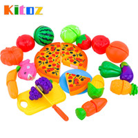 Wholesale Kitoz Mini Kitchen Miniature Food Pizza Fruit Vegetable Pretend Play Cooking Toy Set For Children Girl Boy Chef Cutting