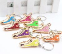 Wholesale Personalized Shoes Gold - Personalized creative small gifts wholesale exquisite simulation of shoes and key chain pendant event gift wholesale