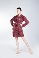 Wholesale Dot Bath Towel - Bathrobe Women Pajamas Hotel SPA Plus Robes Pajamas for Women Coral Fleece Nightgown Sleepwear Bath Towels