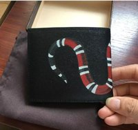 Wholesale Ladies Hot Shorts - Hot! wholesale 2017 g famous brand fashion high qulity luxury women genuine leather wallet men ladies gg short purse with box