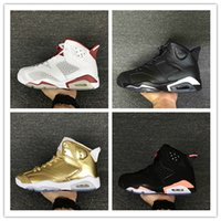 Wholesale Mens Shoes Drop Shipping - Drop shipping air retro 6 mens basketball shoes top quality hare sneaker Infrared Oreo black cat sneaker Pinnacle Metallic Gold Running Shoe