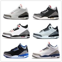 Wholesale Basketball Wolf - retro 3 white black cement infrared 23 wolf grey basketball shoes sneakers for men women Good Quality Version US size 5.5-13