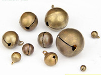 Wholesale Bronze Jingle Bells - 6mm-28mm Bronze Jingle Animals Bells Pendants Hanging Christmas Tree Ornaments Christmas Decorations DIY Crafts Accessories