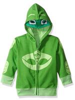 verde dos hoodies da menina venda por atacado-Varejo Outono Novo crianças hoodies meninos e meninas Jaquetas verdes de Manga Comprida Com Zíper casaco Infantil Para 3 Anos-9Ano