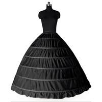 weiß plus größe petticoat großhandel-Ballkleid Große Petticoats 2017 Neue Schwarz Weiß 6 hoops Braut Unterrock Formelle Kleidung Krinoline Plus Size Hochzeit Zubehör