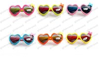 Wholesale Sun Goggles For Children - Sun Glasses for Toddlers Kids Plastic Frame Sunglasses Girls Baby Bowknot Cat Eye Shades Goggles Eyewear UV400 GLO