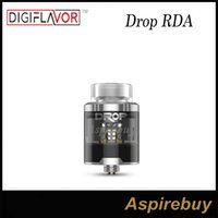 Wholesale Deep Hole - Digiflavor DROP RDA Tank 4 Large Post Holes Stepped Airflow Design Deep Space Locking Top Cap Standard Edition 100% Original