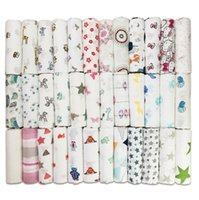 Wholesale Dobby Bedding - Baby Muslin Swaddles Infant Ins Blankets Muslin Tree Wraps Newborn Nursery Bedding Swaddling Bath Towels Quilt Robes 14 design KKA1463