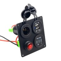 Wholesale Boat Board - car boat marine switch panel waterproof Board USB Voltmeter Combination Panel
