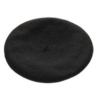Wholesale Red Tam Hats - Wholesale- New Arrival Women's Sweet Warm Wool Winter Berets French Artist Beanie Hat Classic Soft Solid Beret Tam Baggy Hats Ski Caps