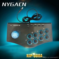 2017 Nuevo USB cableado Game Controller Arcade Fighting Joystick Stick para PS3 Android PC de la computadora Gamepad