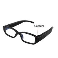 Wholesale spy audio video glasses - 720P Spy DV DVR Video Audio Recorder Glasses Hidden Camera Eyewear CMOS SPORT DV GLASSES