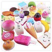 Wholesale Cheap Cute Keychains - Hot Kawaii Squishies Rilakkuma Donut Cute Phone Straps Rising Squishies Bag Charms Slow Jumbo Buns Cheap Charms Handbag Charms Free Shipping