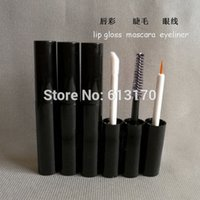 Wholesale Empty Eyelashes - New arriva 4ml Mascara Eyeliner tubes Black Empty revitalash Eyelash Bottles Lipgloss tube DIY make up cosmetic packing