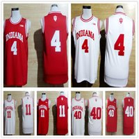 Wholesale Victor Shirt - Cheap Indiana Hoosiers 4 Victor Oladipo Jersey Red White 11 Isiah Thomas 40 Cody Zeller Shirt Stitched College Basketball Jerseys Mix Order