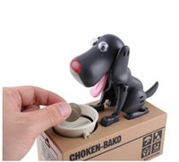 Wholesale Dog Steal Coin - DHL free Safe Hucha Dog Money Box Money Bank Automatic Stole Coin Piggy Bank Money Saving Box Moneybox Gifts for kid