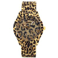 Wholesale Leopard Watches For Women - Ultra thin rose gold woman diamond Leopard watches 2017 brand luxury nurse ladies dresses female Folding buckle wristwatch gifts for girls