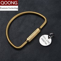 Wholesale Key Chain Strap Holder - New Pure Handmade Brass Car Key Chain Ring Holder Simple Creative Man's Strap Keyholder Copper Keychain for Women T04