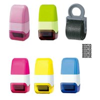 Wholesale Guard Code - Wholesale- Roller Self Inking Stock Stamp Seal Theft Protection Code Guard Your ID Confidentiality Confidential Seal 15mm