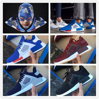 Wholesale New Arrival Fashion Euro - 2017 New Arrival NMD XR1 Boost PK EURO All Black Captain America Light Tan for Top quality Fashion Casual Sports Running Shoes Size 36-45