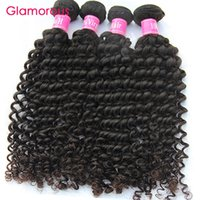 Wholesale Glamorous Deep Wave Hair Human Hair Bundles inch Brazilian Malaysian Peruvian Indain Virgin Hair Weaves for african